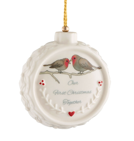 Belleek Our First Christmas Ornament