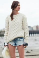 'Blasket' Honeycomb Stitch Aran Sweater