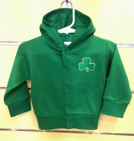 Hooded Shamrock Snap Jacket