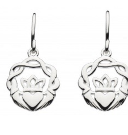 Kit Heath Ltd S/S Celtic Claddagh Drop Earrings