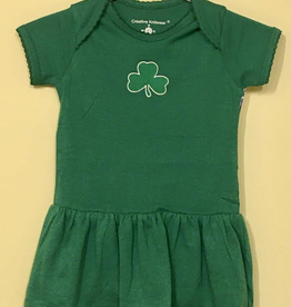 Picot Bodysuit Dress with Shamrock