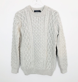 'Blasket' Honeycomb Stitch Aran Sweater