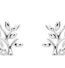 S/S Tree of Life Trinity Knot Stud Earrings