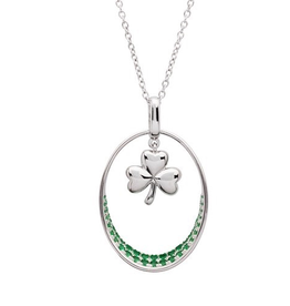 S/S Green Shamrock Necklace