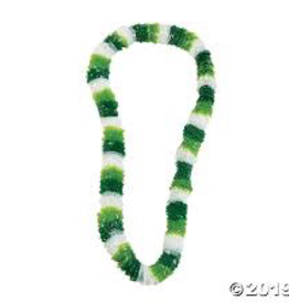 Tri-Color St. Patrick's Day Plastic Lei