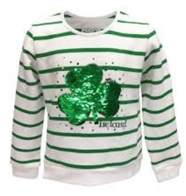 Striped Sequin Shamrock Sweatshirt