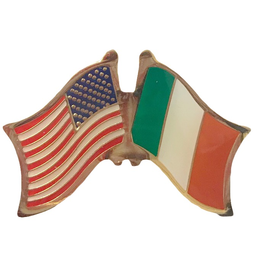 USA & Ireland Friendship Flag Pin