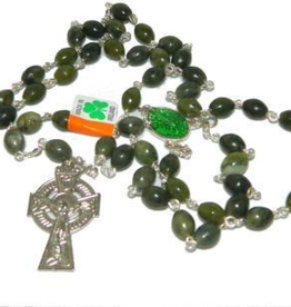 J. C. Walsh & Sons Oval Connemara Marble Rosary - St. Patrick's Medal
