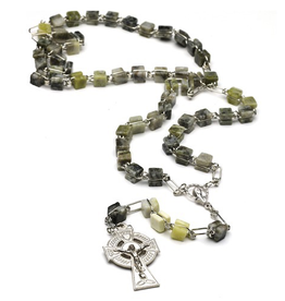 J. C. Walsh & Sons Square Connemara Marble Rosary