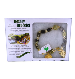 J. C. Walsh & Sons Connemara Marble Rosary Bracelet