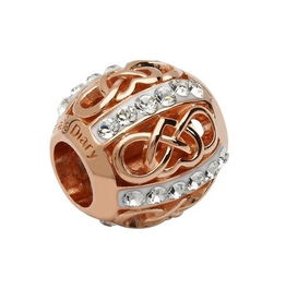 S/S Swarovski Rose Gold Celtic Bead