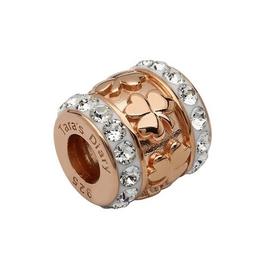 S/S Swarovski Rose Gold Shamrock Bead