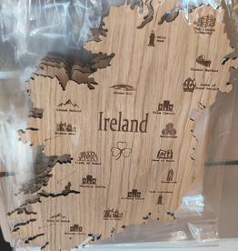 Irish Connection Wooden Ireland Map - Large