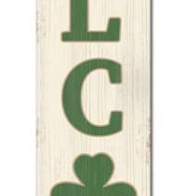 """My Word! Shamrock Welcome Porch Sign - 8""""x46.5"""""""