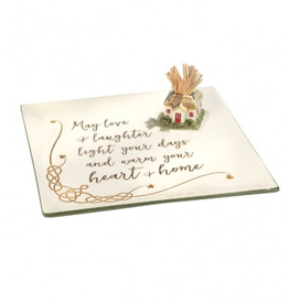 """""""May Love & Laughter"""" Celtic Server with Toothpick Holder"""