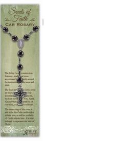 Seeds of Faith Celtic Cross Car Rosary