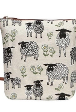 Tapestry Sling Bag, Sheep & Daisy, White