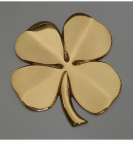 Four Leaf Clover Wall Hanging, Brass
