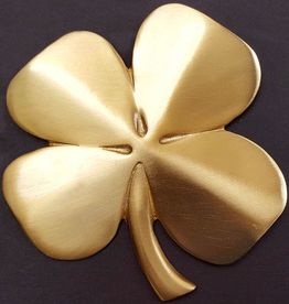 Four Leaf Clover Wall Hanging, Gold Plated