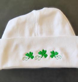 Shamrock Knit Hat, White