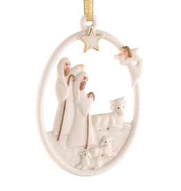 Belleek Shepherd's Nativity Ornament