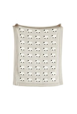 "Creative Co-Op Cotton Knit Sheep Blanket, 40""x32"""