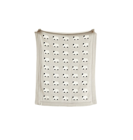 "Creative Co-Op Cotton Knit Sheep Blanket, 40""x32"""