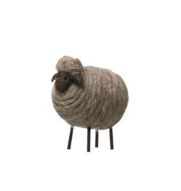 Creative Co-Op Wool Felt Sheep, Grey
