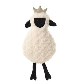 Creative Co-Op Plush Sheep with Crown