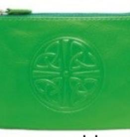 Celtic Knot Coin Purse, Emerald