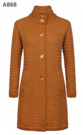 'Aranmore' High Collar Lattice Weave Coat
