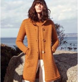 'Aranmore' High Collar Lattice Weave Coat