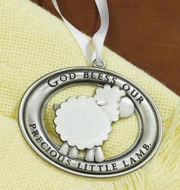 Precious Little Lamb Crib Medal/Ornament