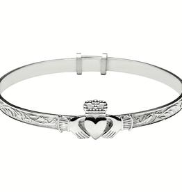 Boru Jewelry S/S Baby Claddagh Bangle
