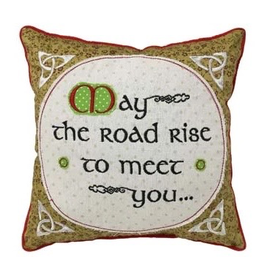 Irish Blessing Patchwork Pillow