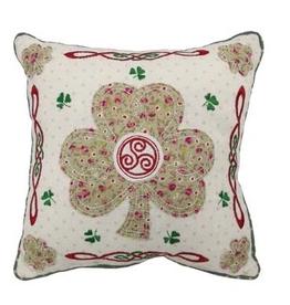 Irish Shamrock Patchwork Pillow