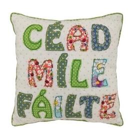 Cead Mile Failte Patchwork Pillow