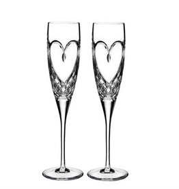 Waterford True Love Flutes, Set of 2