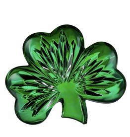 """Waterford Crystal 4"""" Green Shamrock Collectible"""