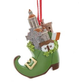 Leprechaun Shoe Irish Landmark Ornament