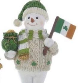 Irish Snowman Ornament