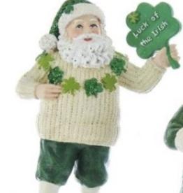 Irish Santa Ornament