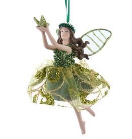 Glitter Green Irish Fairy Ornament