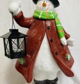 Irish Snowman with LED Lantern