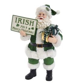 Musical Santa With Irish Greetings