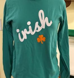 IRISH with Shamrock Long Sleeve T-Shirt
