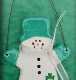 "Augusta Ceramics Irish Snowman with Mittens - ""Nollaig Shona Dhuit"""
