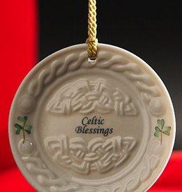 Belleek Celtic Blessing Plate Ornament