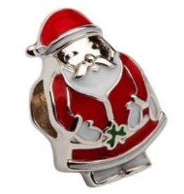 Sterling Silver Enamel Celtic Santa Bead