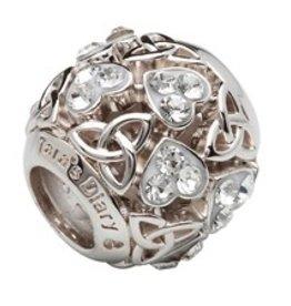 S/S Swarovski Trinity Knot Heart Bead